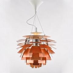 意大利 经典 现代 铝材 松果 叶片 吊灯 BM-4071