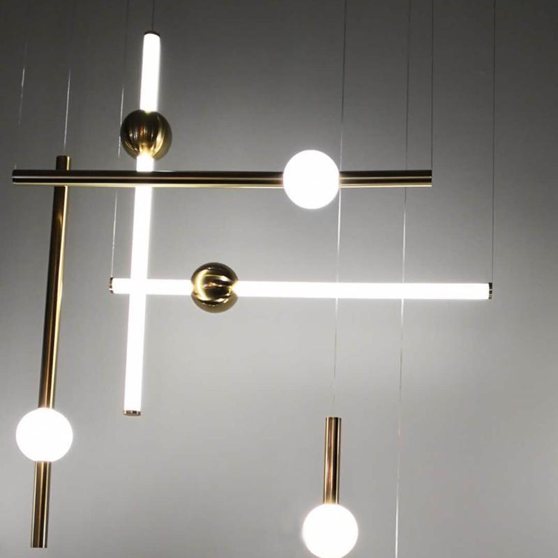 北歐現代經典亞克力長條餐廳客廳裝飾吊燈 1