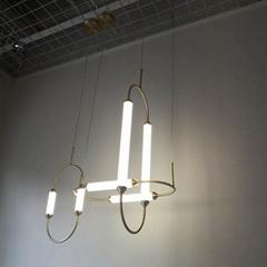 北歐現代經典亞克力長條U形餐廳客廳裝飾吊燈