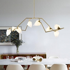 Modern Classic Peach lobby Pendant Light