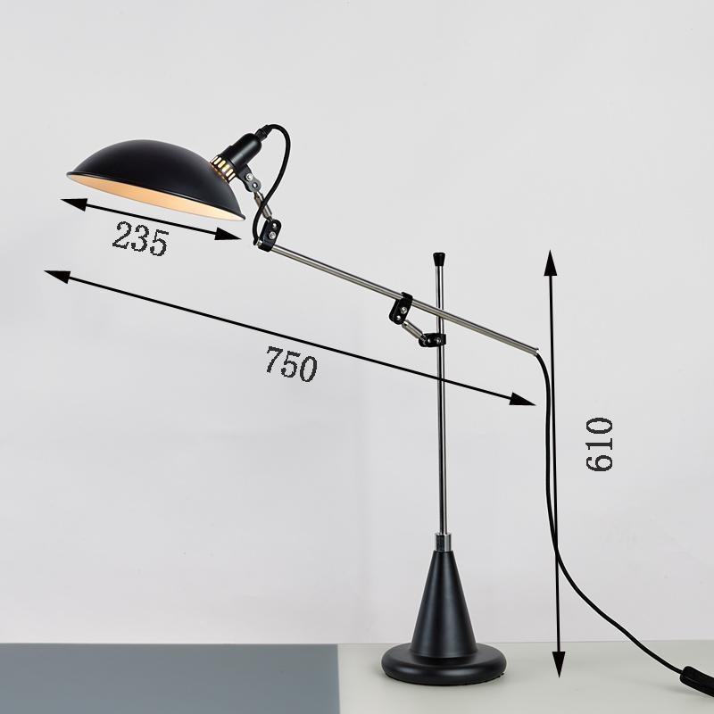 北欧后现代经典铝材不锈钢床头台灯 5