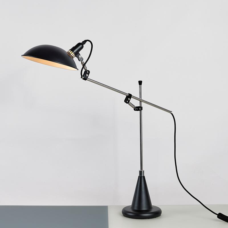 北欧后现代经典铝材不锈钢床头台灯 2