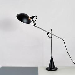 北歐后現代經典鋁材不鏽鋼床頭臺燈