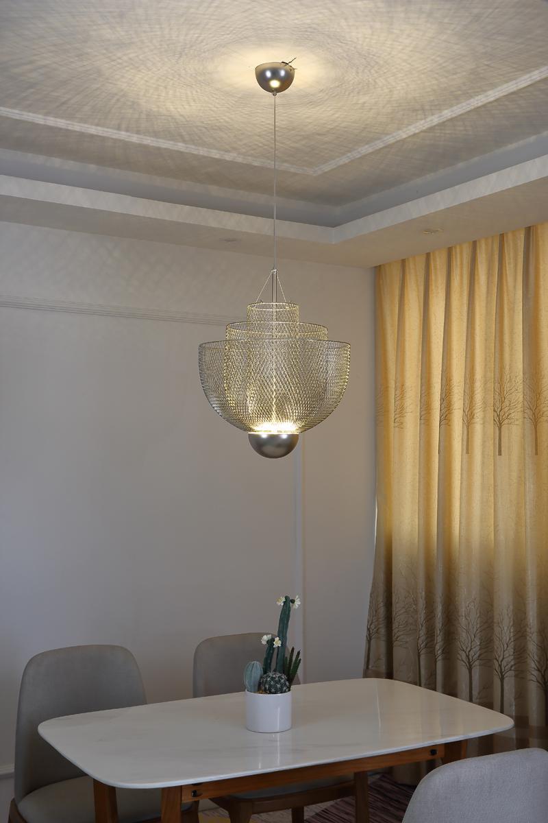 北欧现代经典铁笼铁网餐厅客厅装饰吊灯 2