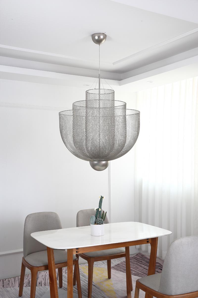 北欧现代经典铁笼铁网餐厅客厅装饰吊灯 3