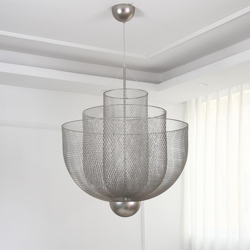 北欧现代经典铁笼铁网餐厅客厅装饰吊灯 1