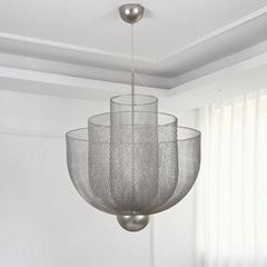北歐現代經典鐵籠鐵網餐廳客廳裝飾吊燈