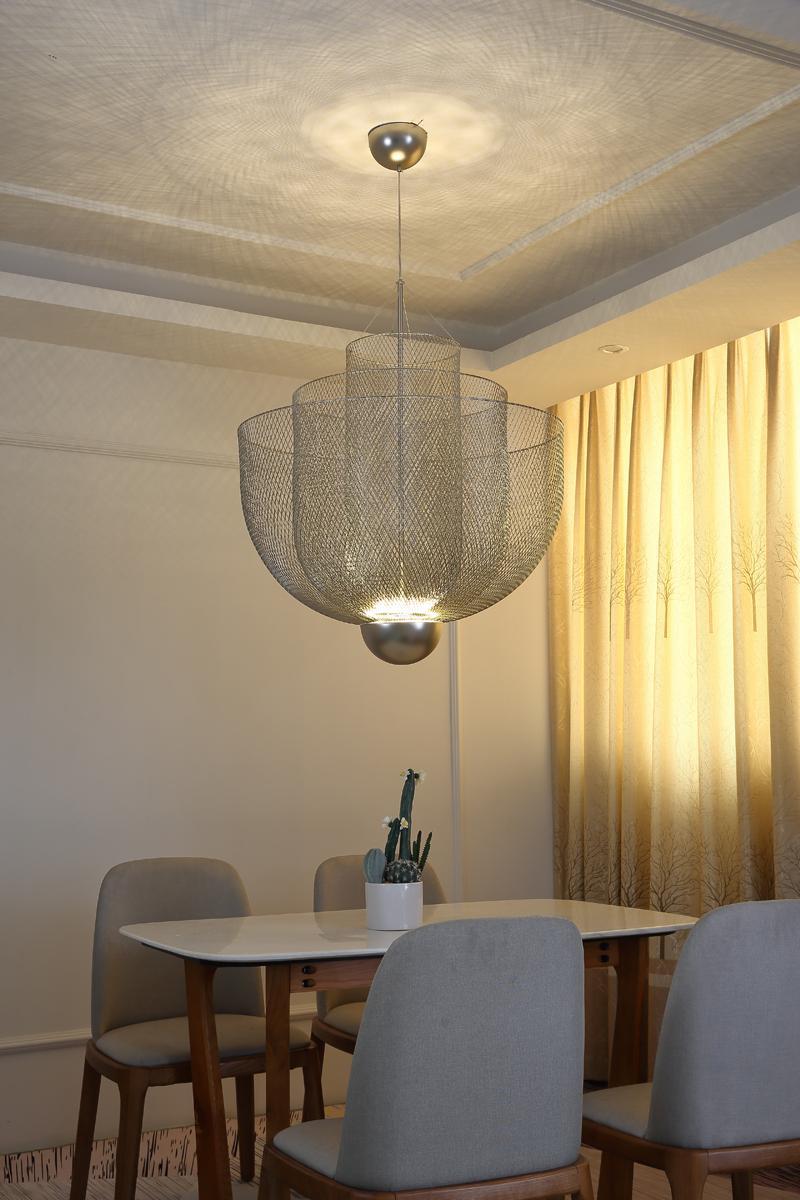 北歐現代經典鐵籠鐵網餐廳客廳裝飾吊燈 6