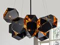北歐設計師現代多面體組合客廳吊燈