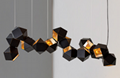北欧设计师现代多面体组合客厅吊灯 2