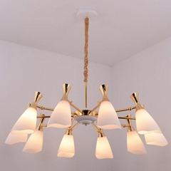 Glass modern Chandelier lamp