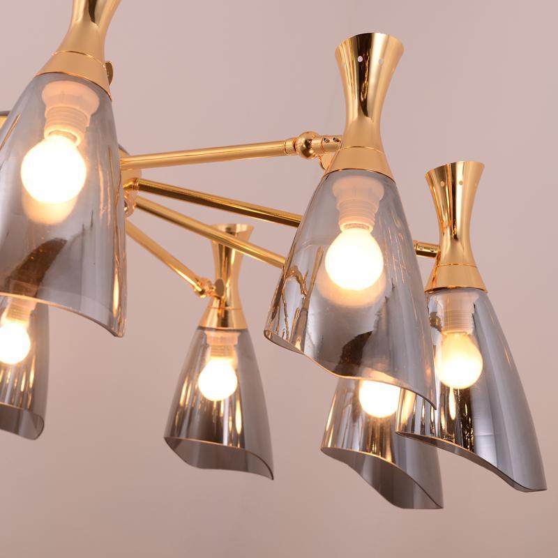 Glass modern Chandelier lamp 4