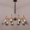 北歐設計師現代客廳鴿子玻璃餐吊燈