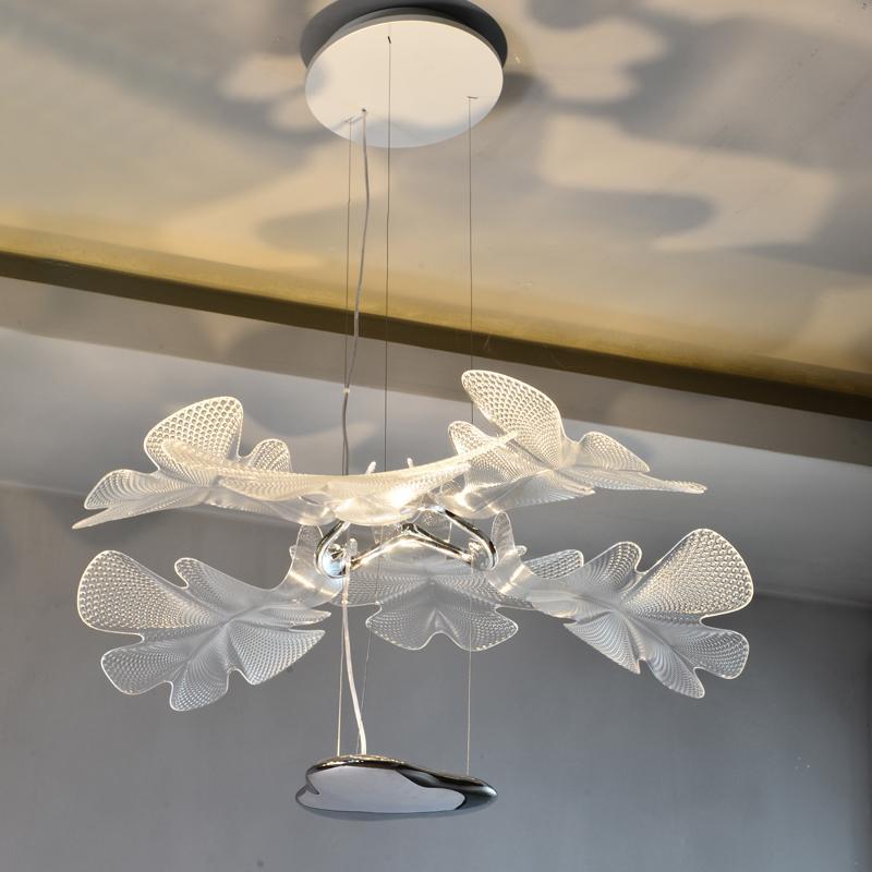 北歐設計師現代客廳亞克力花瓣餐吊燈 3