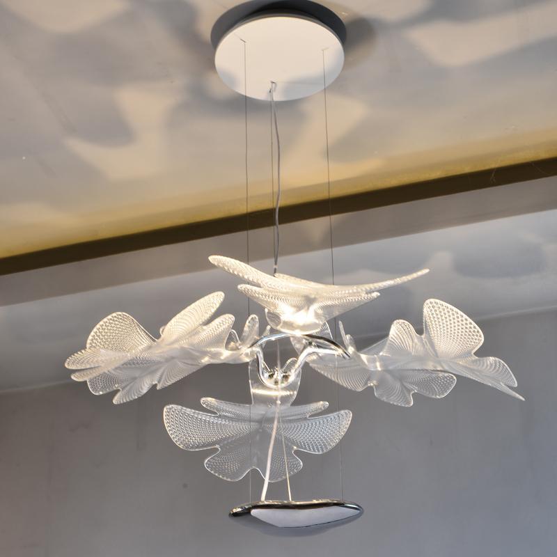 北歐設計師現代客廳亞克力花瓣餐吊燈 1