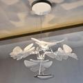 北欧设计师现代客厅亚克力花瓣餐吊灯