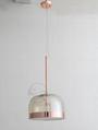 后現代輕奢玻璃吊燈臥室設計師樣