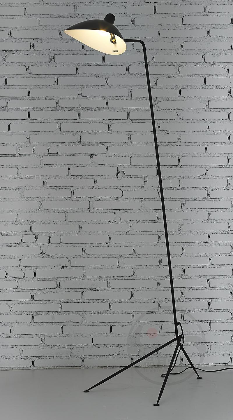 美式復古客廳創意臥室單頭鴨嘴張牙舞爪落地燈 BM-3026F-1 2