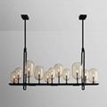 后現代復古工業風餐廳吧台咖啡廳客廳燈燭臺玻璃泡吊燈 BM-5010P