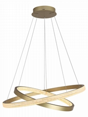 后現代客廳圓環吊燈現代簡約led圓形大廳燈輕奢餐廳臥室燈具 BM-4201