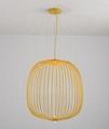 Postmodern minimalist bird cage chandelier