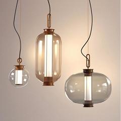 后現代輕奢時尚創意簡約餐廳大堂吧臺玻璃設計師吊燈 BM-5006