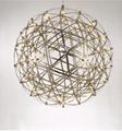 簡約現代餐廳創意圓球形鐵藝燈具個性LED煙火花吊燈 BM-4154