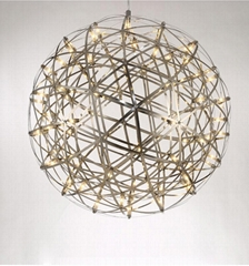 简约现代餐厅创意圆球形铁艺灯具