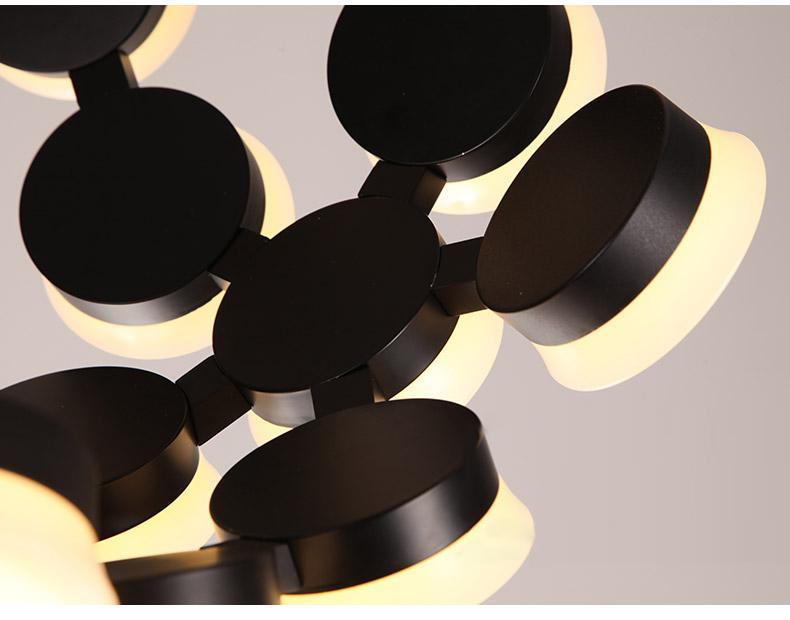 Creative restaurant round chandelier 6