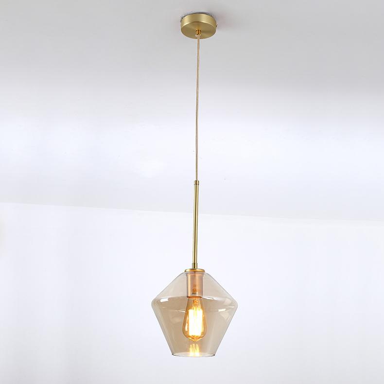 后现代简约客厅咖啡厅吧台茶餐厅波浪酒吧玻璃吊灯 BM-5007