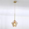 后現代簡約客廳咖啡廳吧台茶餐廳波浪酒吧玻璃吊燈 BM-5007