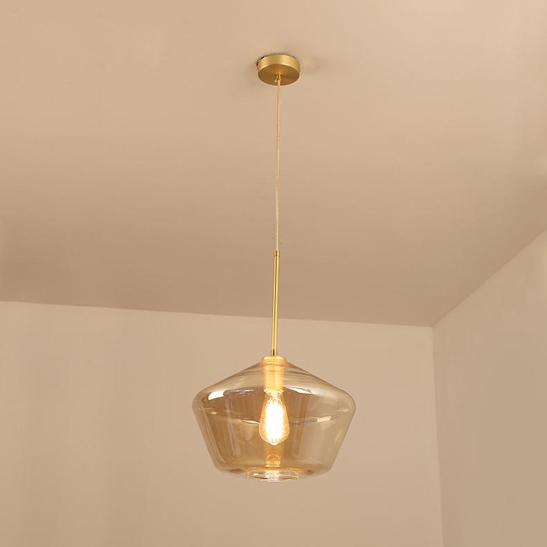 后現代簡約客廳咖啡廳吧台茶餐廳波浪酒吧玻璃吊燈 BM-5007 3