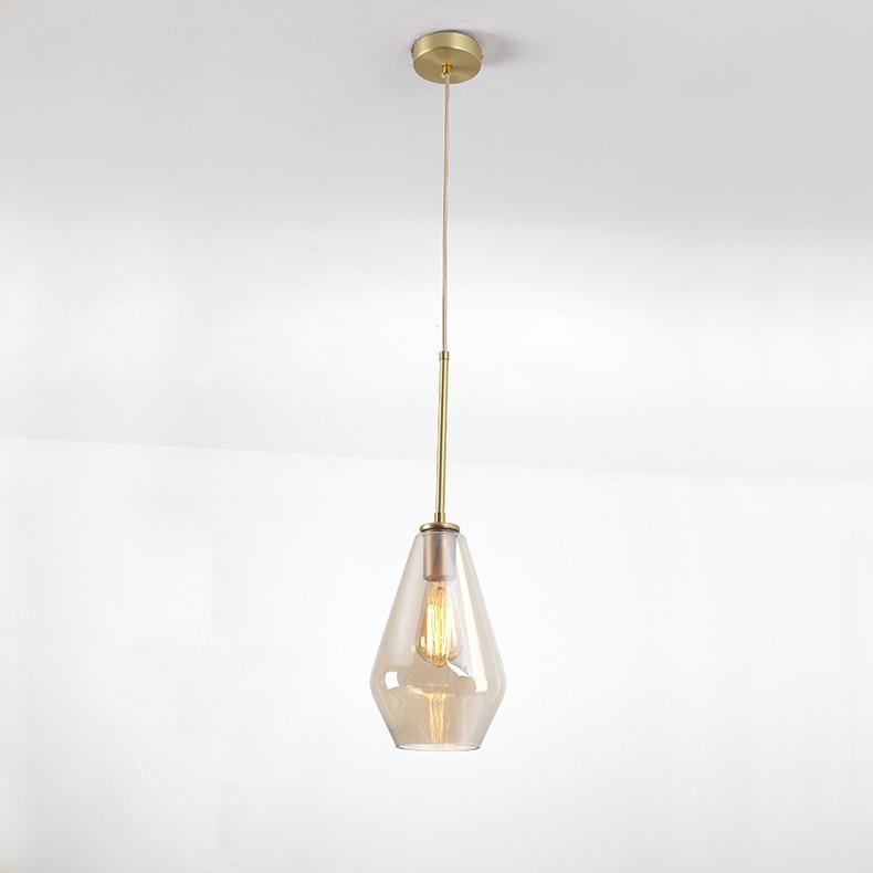 后現代簡約客廳咖啡廳吧台茶餐廳波浪酒吧玻璃吊燈 BM-5007 2