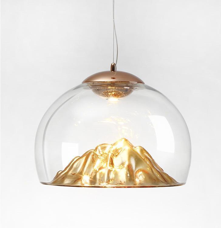 后現代輕奢設計師吊燈創意山景別墅餐廳燈具 3