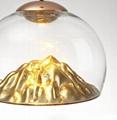 后現代輕奢設計師吊燈創意山景別墅餐廳燈具 4