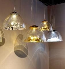 后现代轻奢设计师吊灯创意山景别墅餐厅灯具