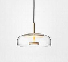 北欧装饰灯具玻璃后现代轻奢餐厅餐桌茶室小吊灯 BM-3042P
