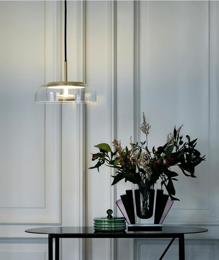 北歐裝飾燈具玻璃后現代輕奢餐廳餐桌茶室小吊燈 BM-3042P 4