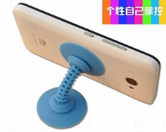 Silicone Double-sided Suction Cup Holder Sucker Stand For Mobile Phones