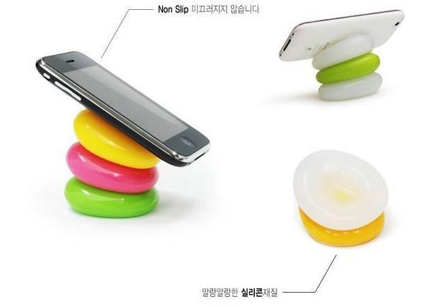 鵝卵石手機支架 1
