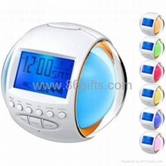 Glowing 7 Color change Nature Sound Alarm Clock Radio