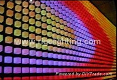 LED curtain wall display screen disco stage light