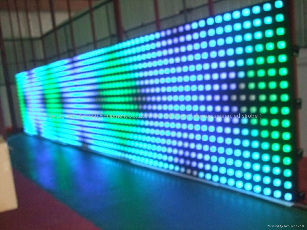 Led Curtain Wall Display Screen Disco