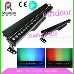 Newest RGB 3W27Leds IP65 wall washer,led bar light,led outdoor Wall Washer (Hot Product - 1*)