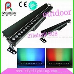 RGB 3W27顆 LED戶外洗牆燈,舞臺燈,戶外外洗牆燈