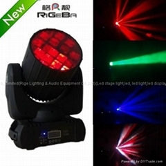 New RGBW 4in1 cree led 12X10W led spread angle beam moving head light