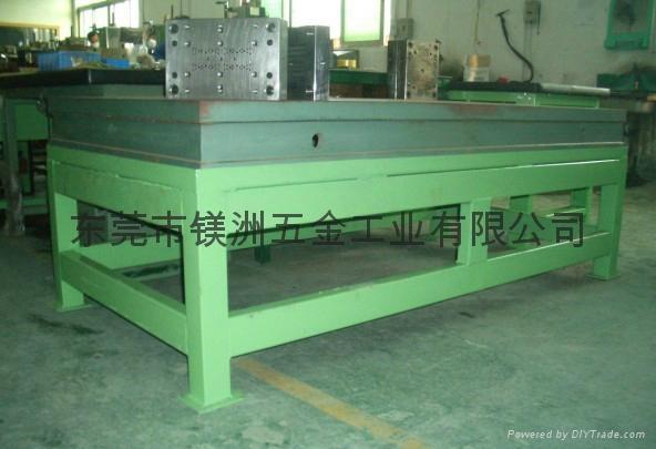 铸铁平台配支架重型钳工工作台 1