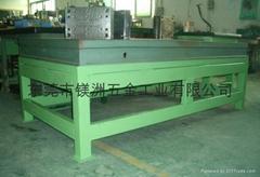铸铁平台配支架重型钳工工作台