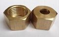 Brass air hose repair fitting 1/4 NPT for 3/8 hose barb