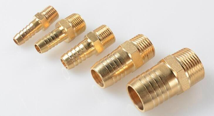 "1/2""NPT brass hose barb fittings water cooling push on fitting  2"